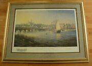 Paul Mcgehee Old Georgetown On The Potomac Framed S/n Print With Remarque