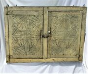 Antique Painted Punched Tin Hanging Pie Safe C.1880 Can Ship Or Deliver