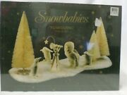 Dept. 56 Snowbabies Stargazing 9 Piece Set Of Figurines And Trees New Sealed