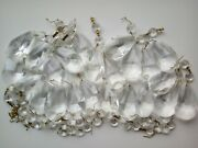 Vintage Cut Clear Crystal Glass Beads Parts Of A Chandelier O Lot Of 776 Grams