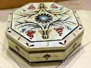 Egyptian Handmade Wood Jewelry Box Inlaid Mother Of Pearl 14.4x14.4