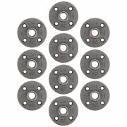 Pipe Decor 3/8 Malleable Cast Iron Floor Flange 10 Pack Industrial Steel Gr...