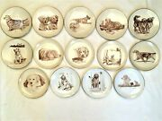 14 Laurelwood Golden Retriever Limited Edition Collector Plates 1989-2002
