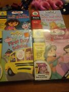 Lot Of 4 Leap Frog My First Leap Pad Games W/ Books Dora Disney