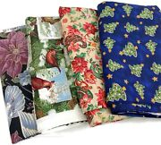 10 1/2 Yards Christmas Winter Cotton Quilting Fabric Lot Of 4 Pieces