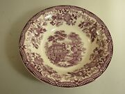 Royal Staffordshire Clarice Cliff Tonquin Plum 8 3/4 Round Vegetable Bowl