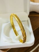 22k Yellow Gold 916 Womens Bangle Bracelet S/m 6andrdquo-7andrdquo With 7mm 8.5g Fast Ship