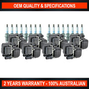 Set Swan Ignition Coils And Ngk Spark Plugs For Mercedes Benz Amg E-class E55 W210