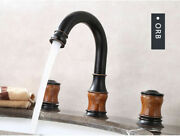 Double Handle Bathroom Hotandcold Water Faucets Sink Faucet Spout Mixer Brass Tap