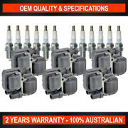 Set Swan Ignition Coils And Ngk Spark Plugs For Mercedes Benz M-class Ml320 Ml350