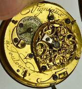 Antique 18th C.french Vigniauxtoulouze Verge Fusee Pocket Watch.ottoman Market
