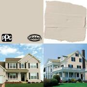 1-gal. Bermuda Sand Ppg1074-3 Semi-gloss Exterior One-coat Paint With Primer