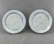 Chinese Porcelain Chargers, Depicting Deer And Herons Kangxi Period