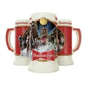 2020 Annual Budweiser Holiday Stein Brand New Brewery Lights