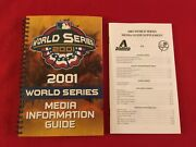 2001 Mlb World Series Media Guide + Supplement / Yankees-diamondbacks / Johnson