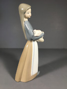 Adorable Vintage Lladro Figurine Of Girl With Pig 1011