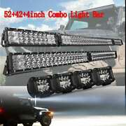 Car 54 Led Light Bar+ 40and039and039+ Pods Combo For Hummer H1 H2 H3 Humvee 6pcs