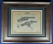 Firearms Patent Reproduction, Spencer Carbine 1866 Custom Matted And Framed