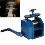 Manual Double-sided Gear Rolling Mill Machine Metal Jewelry Press Tableting Tool