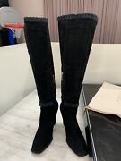 Cesare Paciotti Boots Tall Sz 40 Made In Italy Original Price 1000