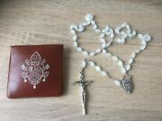 Pope Benedict Xvi Blessed Rosary With Proof Photo Rare