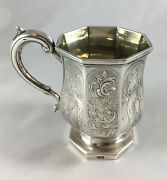 Victorian Indian Colonial Silver Christening Mug Pittar And Co C1840 141g Azr