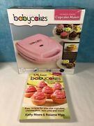 Baby Cakes And039pinkand039 Cupcake Maker With Bonus Cookbook Accessories Brand New In Box