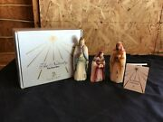 Vintage Fenton 1st Edition The Wise Men Nativity Hand Painted Signed Glass