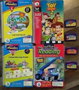 Lot Of 4 Leap Pad Leap Frog Book And Cartridge Disney Toy Story 2 Bob The Builder