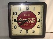 Vintage 1939 Wood Drink Coca Cola In Bottles Square Clock Selecto 16andrdquo Works