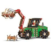 Wooden Toy 3d Puzzle Diy Woodcraft Assembly Kit Forestry Engineering Vehicle 1pc