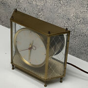 Mastercrafters Mid Centruy Clock Glass Enclosed Brass 8
