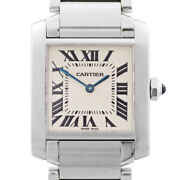 Tank Francaise Mm W51003q3 Ivory White Ladies From Japan N1118