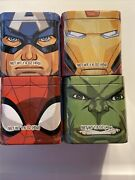 Marvel Collector Tins With Gummy Candy Lot Of 4 All New And Sealed