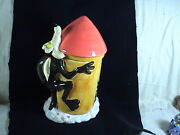 Looney Tunes Wile E. Coyote Riding A Rocket Cookie Jar Orig. Box
