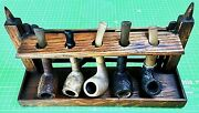 Vintage Smoking Pipe / Estate Vintage Pipes Collection / Lot With Stand