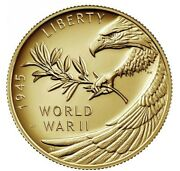 End Of World War Ii 75th Anniversary 24-karat Gold Coin In Hand Ships Today