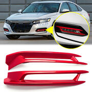 Abs Red Fog Light Cover Molding Trim For Honda Accord 10th Gen 2018 2019