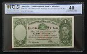 1949 Coombs Watt R31 Australia 1 Pound Pcgs Graded Extremely Fine 40