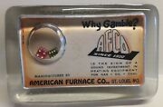 Glass Paperweightadvertisingamerican Furnace Co.st Louis Mo.dice And Mirror