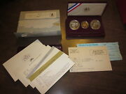 Olympic 3 Coin Proof Set - 1984 W 10 Gold - 1983 S And 1984 S Silver Dollars