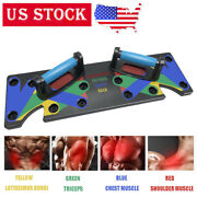 New 9 In 1 Push Up Rack Board System Fitness Workout Train Gym Exercise Stands