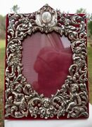 Very Rare Antique American Sterling Photo Frame In Absolutely Original Condition
