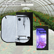 Hydroponic Indoor Plant Growing Tent Green House Reflective Mylar 24x24x48