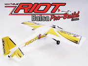 Max Thrust Pro-build Balsa Riot Kit Yellow - Ic Or Electric
