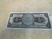 1 Gram Silver Valcambi Suisse And 5 1 Peso Aztec Calender Note Crisp Uncirculated