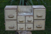 Antique Primitive Wooden Hanging Spice Chest Wall Box Cupboard