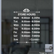 Custom Office Store Business Hours Sticker Vinyl Decal Sign Open Hour Style 09