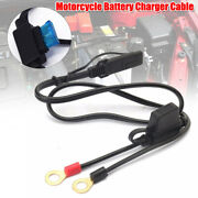 Motorcycle Battery Terminal Ring Connector Harness Charger Adapter Cable Parts