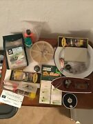 Vintage Pflueger Medalist Spool And Lures And Box Of Other Fishing Supplies, Boat